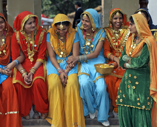 Women in colorful dress_Haryana, India_SS_19475563